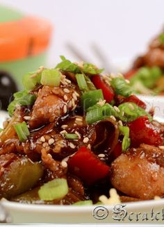 Healthy Chinese Sesame Chicken! Make this at home instead of going to get fattening chinese food! | scratching canvas