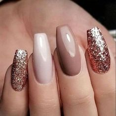 neutral nails with sparkle - neutral nails . neutral nails with sparkle . neutral nails with accent . neutral nails for pale skin . Pretty Nail Designs, Winter Nail Designs, Nail Ideas For Winter, Holiday Ideas, Christmas Ideas, Holiday Nails, Christmas Nails, Christmas Glitter, Holiday Makeup