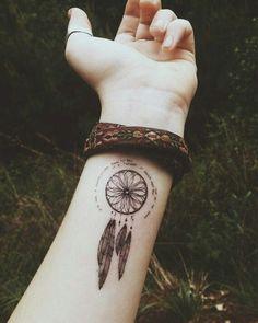 tattoo, dreamcatcher, and Dream image