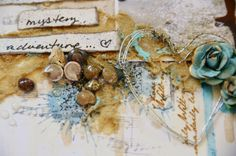 Getting Messy with Sand by Miae Rowe - TUTORIAL ON HOW TO MIX SAND WITH GEL SO IT ADHERES TO  PAPER