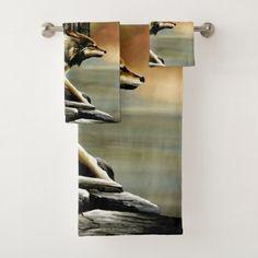 Sunday Patrol Bath Towel Set - home gifts ideas decor special unique custom individual customized individualized
