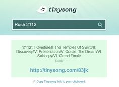TinySong - Free music search and sharing - http://tinysong.com/