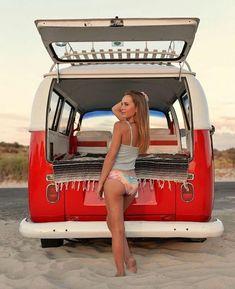 Volkswagen – One Stop Classic Car News & Tips Volkswagen Transporter, Volkswagen Bus, Vw T1, Bus Camper, Trucks And Girls, Car Girls, Combi Vw T2, Van Vw, Kdf Wagen