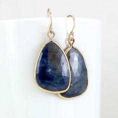 Melanie Casey - Rose Cut Blue Sapphire 14k Frame Earrings, $465.00 (http://www.melaniecasey.com/rose-cut-blue-sapphire-14k-frame-earrings/)