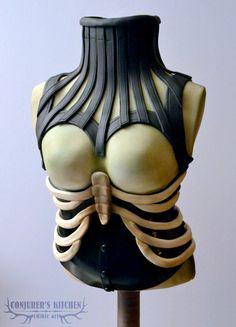 Skeleton corset cake