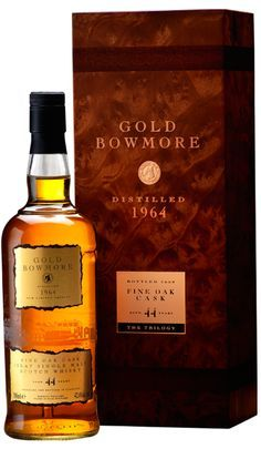 Gold Bowmore | Bowmore Islay Single Malt Whisky available from Whisky Please. #whiskydrinks