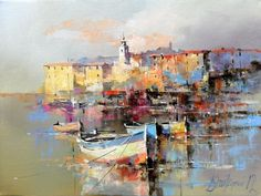 Branko Dimitrijevic, Rovinj, Oil on canvas, 30x40cm