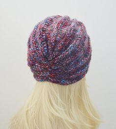 Knit wool turban hat wool chunky turban hat by MaraArber on Etsy