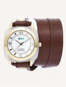 Moonstone Gold Acetate Stone Simple Wrap Watch-Le Mar $92