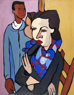 Artist and Model by William H. Johnson / American Art
