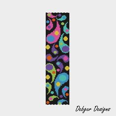 Colorful Droplets - Peyote Cuff Pattern (PATTERN SAVING buy 2 - 3rd free). $6.50, via Etsy.