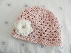 girl pink hat baby hat  girl baby hatpink hat by ByBNRaccessory, $12.00