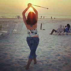 Baton twirling on the beach...oh Wildwood days with my 'sisters'