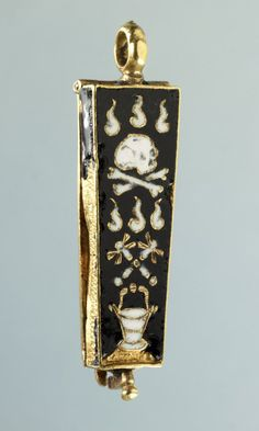 memento mori pendant, made in france in the 16th ce