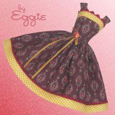 Chocolat - Vintage Barbie Doll Dress Reproduction Repro Barbie Clothing