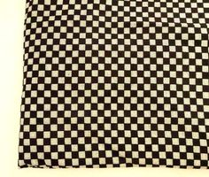 Indian cotton fabric with  Black and White check pattern, modern print cotton for apparel, quilting patchwork, FAT QUARTER