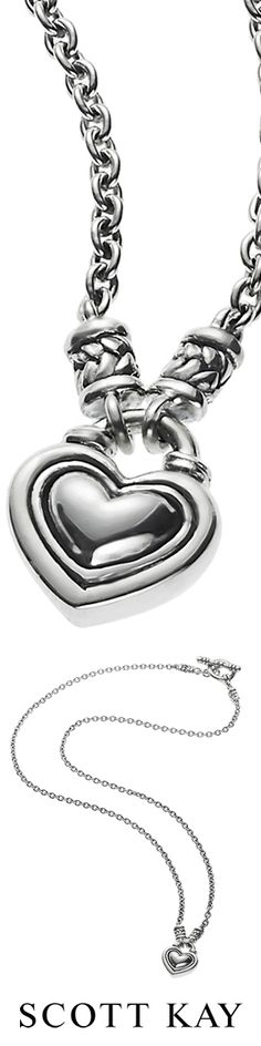 Ladies Sterling Silver Heart Necklace Product Style: N1492SPS #ScottKay