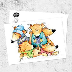 Почтовая открытка «Лис много не бывает»