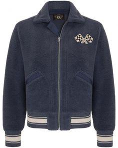 Sweatjacke von RRL online bei LODENFREY. ✓Kauf auf Rechnung ✓Kostenlose Retoure Winter, Clothing, Jackets, Fashion, Calculus, Color Blue, Mandarin Collar, Embroidery, Scale Model
