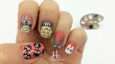 Decoración de uñas Totoro Nail Art