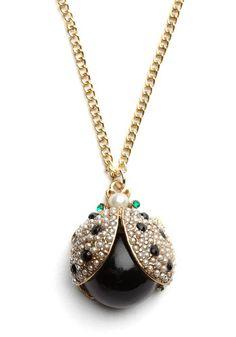 Ladybug necklace - $20.