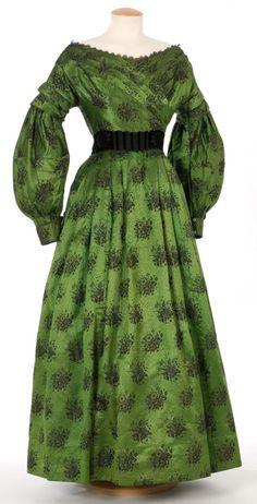Dress 1830s Silk