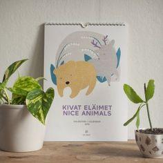 Seinäkalenteri 2016, Kivat eläimet
