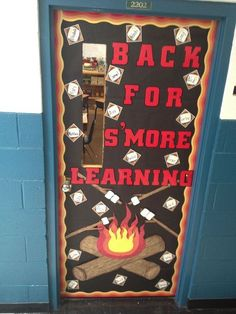 Camping Classroom Back for S'more Learning Check out these cool back to school bulletin boards! Welcome students with these creative bulletin board and classroom door decorating ideas. Creative Bulletin Boards, Back To School Bulletin Boards, Preschool Bulletin Boards, Classroom Bulletin Boards, Classroom Ideas, Bullentin Boards, Future Classroom, Camping Theme For Classroom, Welcome Bulletin Boards