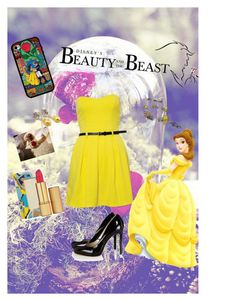 """""""Belle inspired outfit"""" by kelseyisabelll ❤ liked on Polyvore"""