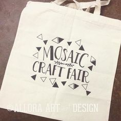 bag design for the mosaic craft fair in california.   if you are interested in custom artwork for your merch email info@alloraartanddesign.com :::::::::::::::::::::::::::::::::::::::::::::::::::: #california #craft #mosaic #mosaiccraftfair #design #bag #totebag #alloraartanddesign