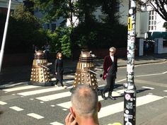 Doctor Who Abbey road Beatles homage
