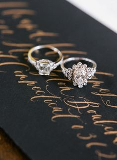 vintage engagement rings | Photography: Rebecca Yale Photography