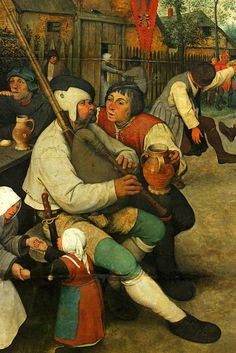 Boerendans - Kerk ITTERBEEK (brouwerij) Brueghel the Elder, Peasant Dance, detail 3