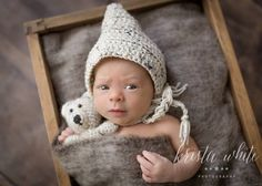 Bonnet. Pixie hat. Crochet bonnet. Newborn by CrochetHarvest