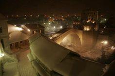 Mostar, Bosnia and Hercegovina, Stari Grad, Snow2012, Febreuary