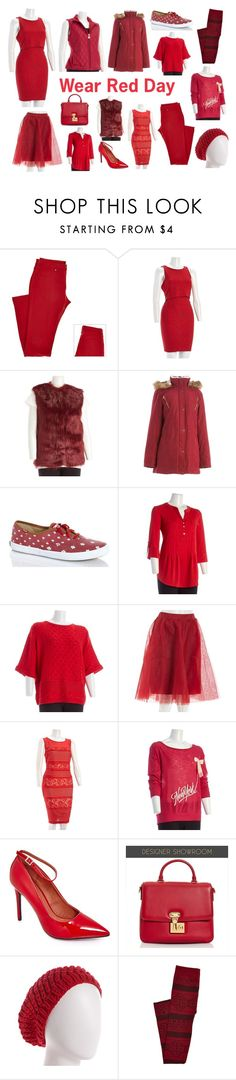 Wear Red Day- 2/5/15 by burlington on Polyvore featuring women's clothing, women's fashion, women, female, woman, misses and juniors