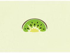 Creative Fruit, Dopp, Kiwi, Illustration, and Logos image ideas & inspiration on Designspiration Logo Design Inspiration, Icon Design, Web Design, Design Ideas, Fruit Kabobs Kids, Fruit Logo, Fruit Packaging, Logo Shapes, Ideas