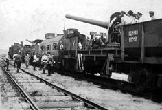 Photo of the armored train 'United Russia' of the Volunteer Army, 1919.