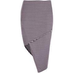 Boohoo Allegra Striped Rib Asymetric Midi Skirt ($20) ❤ liked on Polyvore featuring skirts, mini skirt, pleated mini skirt, pleated skirt, purple midi skirt and midi circle skirt