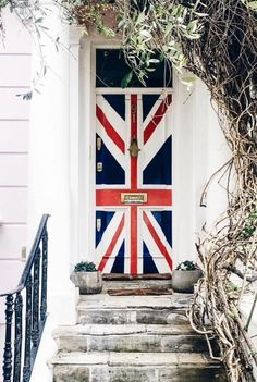 Union Jack front door, Notting Hill, London