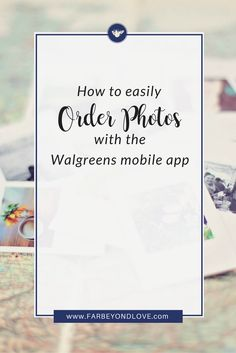 Print and keep your family photos by quickly and easily ordering prints of your mobile pictures using the Walgreens mobile app.