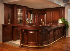 "for relaxing with friends -  a ""small"" home bar"