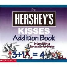 Hershey's Kisses Addition Book: Whether you want to add small numbers or big numbers, deal with easy equations or hard equations, or count to 30 million, using Hershey kisses is a most delicious way of doing it. Teaching Activities, Classroom Activities, Teaching Math, Classroom Ideas, Teaching Ideas, Future Classroom, Maths, Math Literature, Genre Study