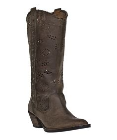Loving this Dingo Brown Syndie Leather Western Boot on #zulily! #zulilyfinds