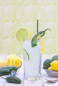 Jalapeno Lemonade, the perfect mix of spicy and sweet!