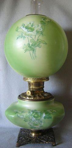 Victorian Oil Lamp circa 1890