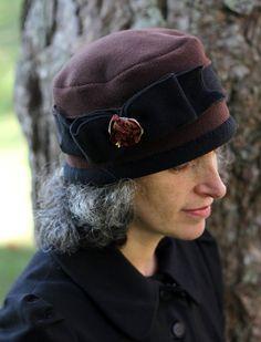 Pillbox Polar Fleece Hat Warm Ladies Winter Hat Brown and Gorros d7bcfdafdd2a