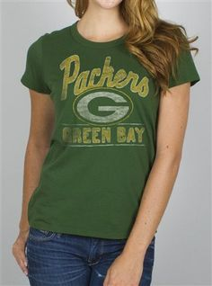 6bbbf9afe2 NFL Women s Green Bay Packers Kickoff Crew T-Shirt by Junk Food