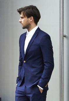 Zara - BRIGHT BLUE BLAZER-STRETCH SHIRT BRIGHT BLUE TROUSERS