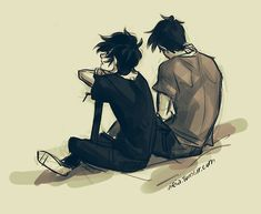 Nico di Angelo & Percy Jackson | art by Viria | Artwork